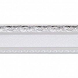 """Карниз потолочный пластиковый без поворота """"Гранд"""", 2 ряда, серебро, 320 см"""