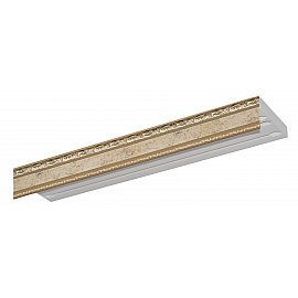 """Карниз потолочный пластиковый без поворота """"Гранд"""", 3 ряда, бронза, 220 см"""