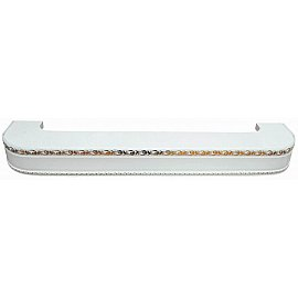 """Карниз потолочный пластиковый поворотный """"Гранд"""", 3 ряда, белое золото, 140 см"""