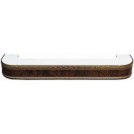 """Карниз потолочный пластиковый поворотный """"Гранд"""", 2 ряда, карельская береза, 180 см"""