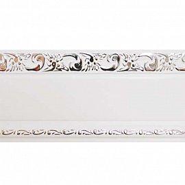 """Карниз потолочный пластиковый без поворота """"Гранд"""", 2 ряда, белый хром, 340 см"""