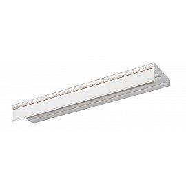"""Карниз потолочный пластиковый без поворота """"Греция"""", 3 ряда, белый хром, 220 см"""