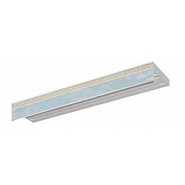 """Карниз потолочный пластиковый без поворота """"Греция"""", 3 ряда, белый мрамор, 320 см"""