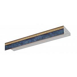 """Карниз потолочный пластиковый без поворота """"Греция"""", 3 ряда, синий, 340 см"""