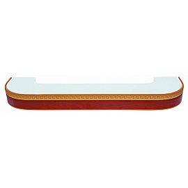 """Карниз потолочный пластиковый поворотный """"Греция"""", 3 ряда, груша, 320 см"""