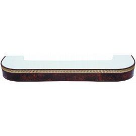 """Карниз потолочный пластиковый поворотный """"Греция"""", 2 ряда, коричневый, 240 см"""