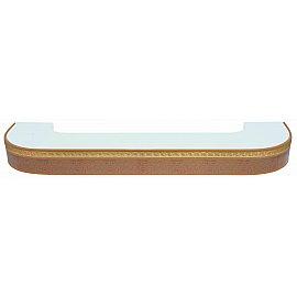 """Карниз потолочный пластиковый поворотный """"Греция"""", 3 ряда, песок, 240 см"""