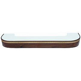 """Карниз потолочный пластиковый поворотный """"Греция"""", 2 ряда, орех темный, 200 см"""