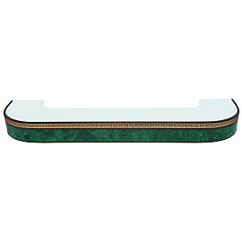 """Карниз потолочный пластиковый поворотный """"Греция"""", 2 ряда, зеленый, 320 см"""