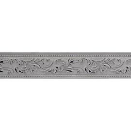 """Карниз потолочный пластиковый без поворота """"Овация 3D"""", 2 ряда, белый хром, 220 см"""