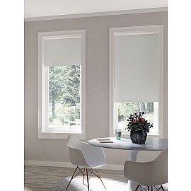 Рулонная штора blackout, серый, 62 см
