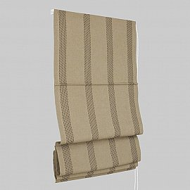 "Римская штора ""Montroy"", коричневая полоса (20-cuero), ширина 160 см"