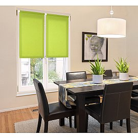 "Рулонная штора ""Сантайм Лен"", светло-зеленый, ширина 73 см"