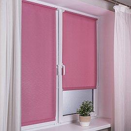 "Рулонная штора эконом ""Сантайм Лен"", розовый, ширина 62 см"