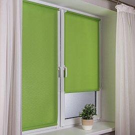 """Рулонная штора эконом """"Сантайм Лен"""", светло-зеленый, ширина 81 см"""