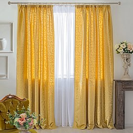 Комплект штор Fantezi-006, желтый, 250 см