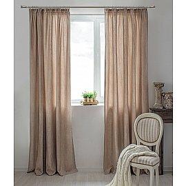 Комплект штор Dialog-909, светло-коричневый, 270 см