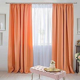 Комплект штор Duo-270, персиковый, 270 см