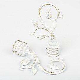 """Наконечник для карниза """"Флора"""", белое золото, ø25 мм"""
