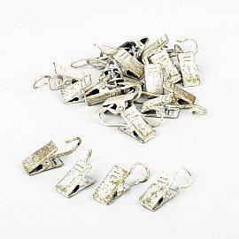 Комплект зажимов для металлических колец, белое золото