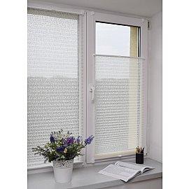 """Штора плиссе на балконную дверь """"Basic Transparent Белый"""", ширина 68 см"""