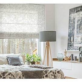"""Римская штора макси """"Sia Visilio oasis con plomo"""", белый blanco (цветы) 10, ширина 160 см"""