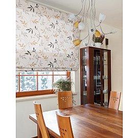 """Римская штора """"Flora"""", бежево-коричневый, ширина 62 см"""