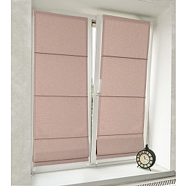 Римская штора мини Roman-8950, бежево-розовый, ширина 52 см