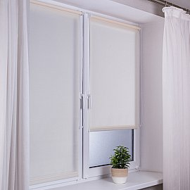 "Рулонная штора ""Сантайм Роял"", кремовый, ширина 57 см"