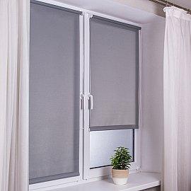 "Рулонная штора ""Сантайм Роял"", серый, ширина 95 см"