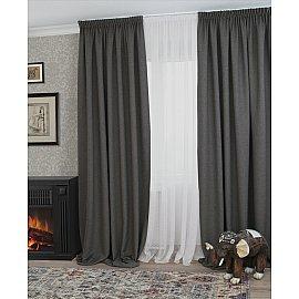 Шторы Blackout Nature, серый (А85818), 180*270 см