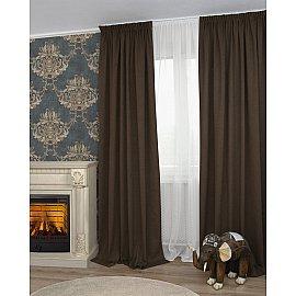 Комплект штор Icaro-86, коричневый (marron), 160*270 см