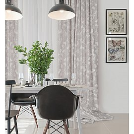 Комплект штор Nahia Coord Loneta-70, серый (gris), 160*270 см