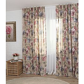 Комплект штор Kentucky culla, цветы, 160*270 см