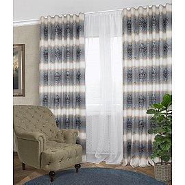 Комплект штор Klassik-100, синий, 160*270 см