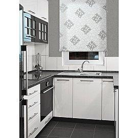"Рулонная штора мини ""Футура"", белый, серебро, 95 см"