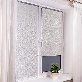 """Рулонная штора """"Венеция Термо-Блэкаут"""" белый, ширина 73 см"""