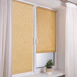 """Рулонная штора """"Венеция"""", золото, ширина 57 см"""