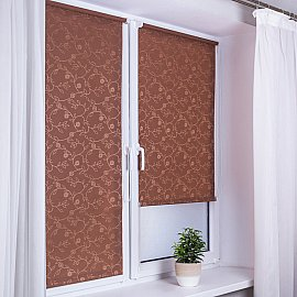 "Рулонная штора ""Сантайм-жаккард Версаль"", какао, ширина 57 см"