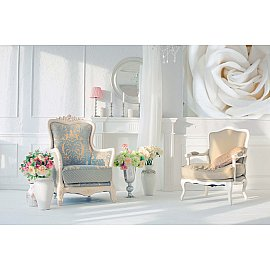 """Фотопанно холст """"Роза бела"""", 200*147 см"""