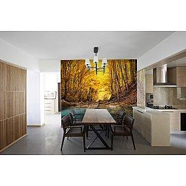 "Фотопанно холст ""Желтый лес"", 300*270 см"