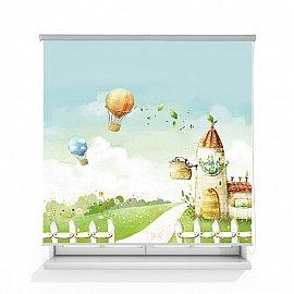 """Рулонная штора ролло термоблэкаут """"Воздушные шары"""", 120 см"""