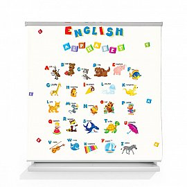 "Рулонная штора ролло термоблэкаут ""English alphabet"", 120 см"