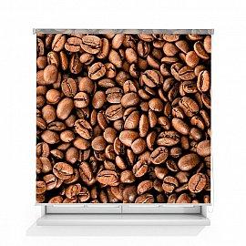 "Рулонная штора ролло лен ""Зерна кофе"", 120 см"