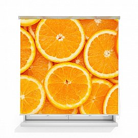 """Рулонная штора ролло лен """"Апельсиновый фон"""", 140 см"""