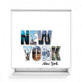 "Рулонная штора ролло лен ""Нью-Йорк"", 160 см"