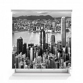 """Рулонная штора ролло лен """"Гонконг"""", 120 см"""