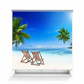 """Рулонная штора ролло лен """"Пляж"""", 160 см"""