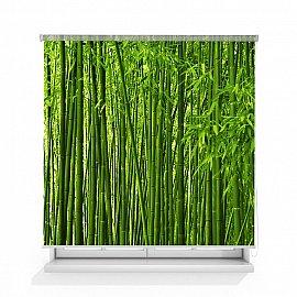 "Рулонная штора ролло лен ""Бамбук"", 160 см"