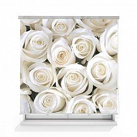 """Рулонная штора ролло термоблэкаут """"Розы белые"""", 120 см"""
